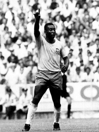 World Cup Group 3 Match in Guadalajara Mexico. 7th June 1970 England 0 Vs Brazil 1, Brazil's Pele Photographic Print
