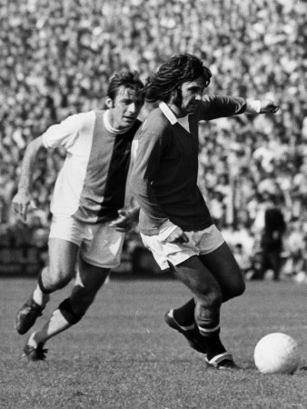 George Best of Manchester United 1971 in Action Against Crystal Palace. September 1971 Photographic Print