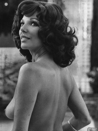 Joan Collins British Actress - August 1976 Topless in the Film Moneychangers Photographic Print
