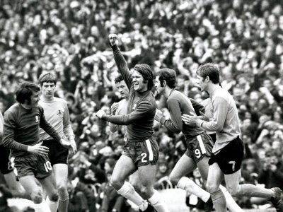 FA Cup Semi Final Chelsea vs Watford Chelsea's Dave Webb Celebrates After Scoring Goal Anden