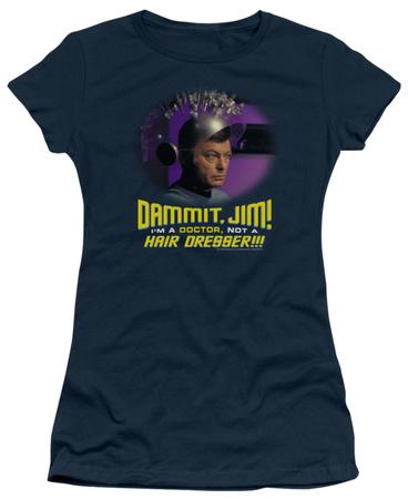 Juniors: Star Trek - Not a Hair Dresser T-shirts