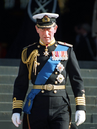 Prince Charles at St Paul's Cathedral Where Queen Elizabeth Unveiled Memorial to British Servicemen Fotografisk tryk