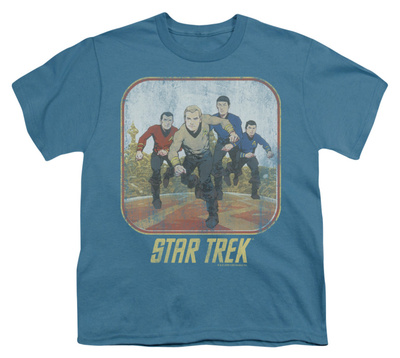 Youth: Star Trek - Running Cartoon Crew Shirts