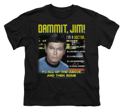 Youth: Star Trek - All of the Above T-shirts