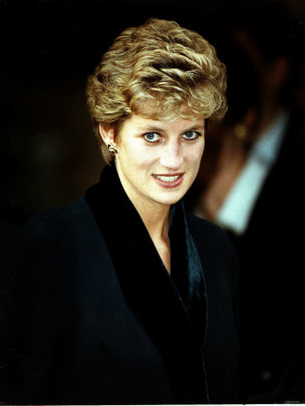 Princess Diana at the Relaunch of Birthright Charity November 1993 Photographic Print