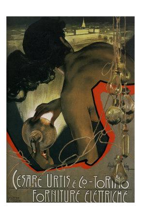 Cesare Urtis Torino Forniture Elettriche Posters by Adolfo Hohenstein