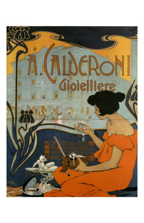 A Calderoni Gioiellerie, c.1898 Art Print