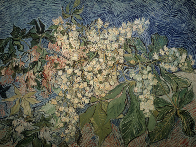 Blossoming Chestnut Branches Giclee Print by Vincent van Gogh