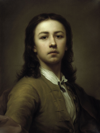 Self-Portrait With a Red Coat Giclee Print by Anton Raphael Mengs