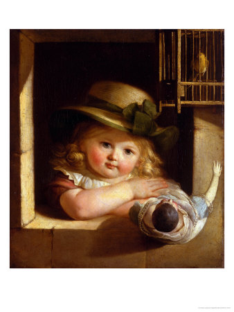Child With a Doll Giclee Print by Christian Leberecht Vogel