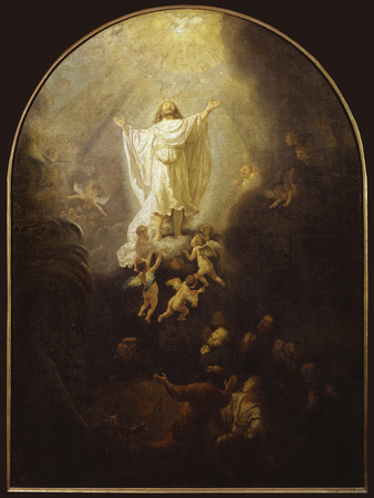 Ascension of Christ Giclee Print by  Rembrandt van Rijn