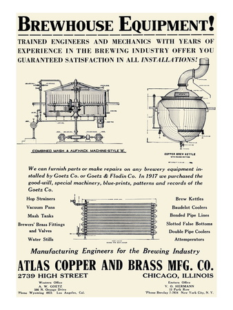Brewhouse Equipment Premium Poster