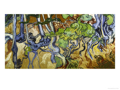 Tree Roots and Tree Trunks Giclee Print by Vincent van Gogh
