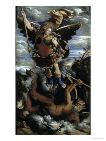 The Archangel Michael Giclee Print by Dosso Dossi