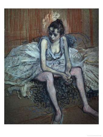 Sitting Dancer Giclee Print by Henri de Toulouse-Lautrec