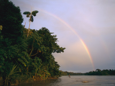 Rainbow over a South American River Photographic Print by Steve Winter