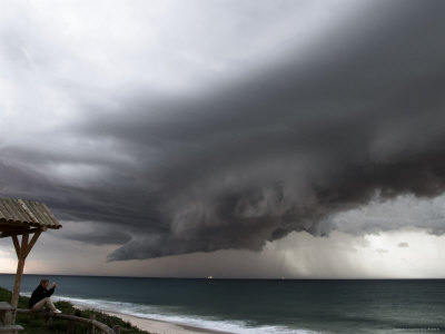 Dramatic Storm Clouds, Cottesloe Beach Photographic Print by Orien Harvey
