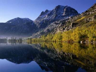 Autumn Morning, Silver Lake, June Lake Loop, Eastern Sierra Nevada Photographic Print by Nicholas Pavloff