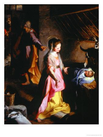 Nativity Giclee Print by Federico Barocci