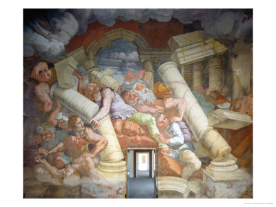 The Fall of the Giants Giclee Print by Giulio Romano