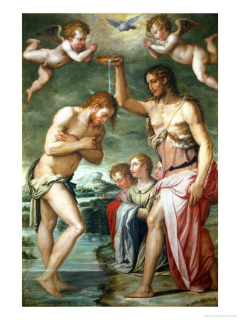 Baptism of Christ Giclee Print by Giorgio Vasari