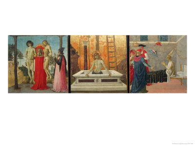 Predella with Scenes from the Life of a Saint Giclée-Druck