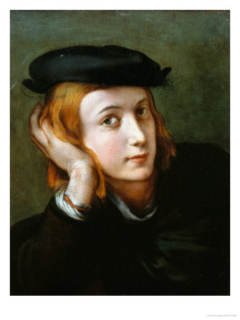 Portrait of a Young Blond Boy Giclee Print by  Correggio