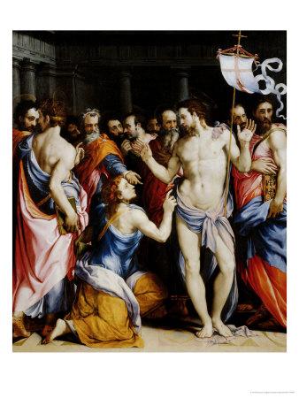 Incredulity of St. Thomas Giclee Print by Francesco Salviati