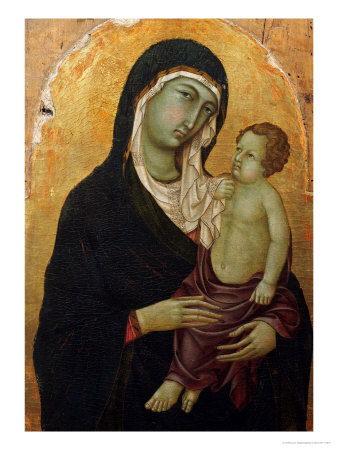 Madonna and Child Giclee Print by Ugolino Di Nerio