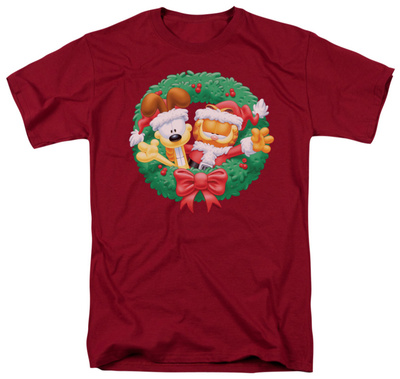 Garfield - Christmas Wreath T-shirts