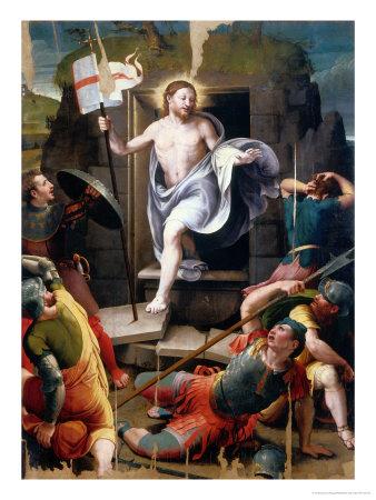 Resurrection Giclee Print by Raffaellino Del Colle