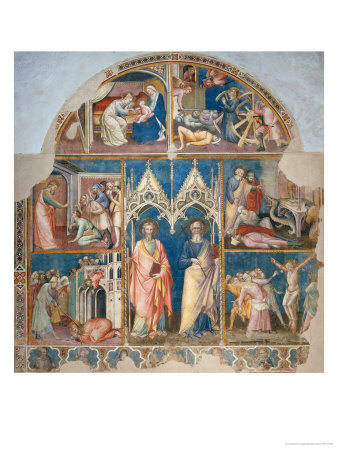 St. Philip and St. James and Scenes from Their Life Giclee Print by Spinello Aretino