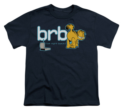 Youth: Garfield - Be Right Back T-shirts