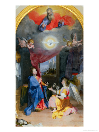 Annunciation Giclee Print by Federico Barocci