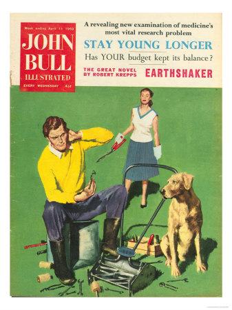 John Bull, Lawnmowers Magazine, UK, 1950 Giclee Print