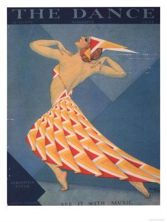 Art Deco Fashion 1920. The Dance, Art Deco Magazine,
