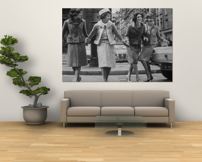 Suits Designed by Chanel Premium Wall Mural by Paul Schutzer