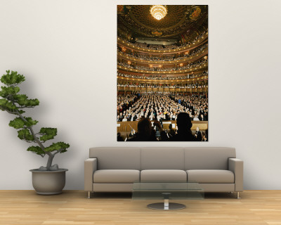 Audience at Gala on the Last Night in the Old Metropolitan Opera House Premium Wall Mural by Henry Groskinsky