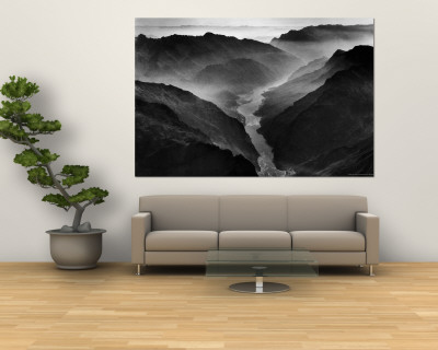 "The Yangtze River Passing Through the Wushan, or ""Magic Mountain"", Gorge in Szechwan Province Premium Wall Mural by Dmitri Kessel"