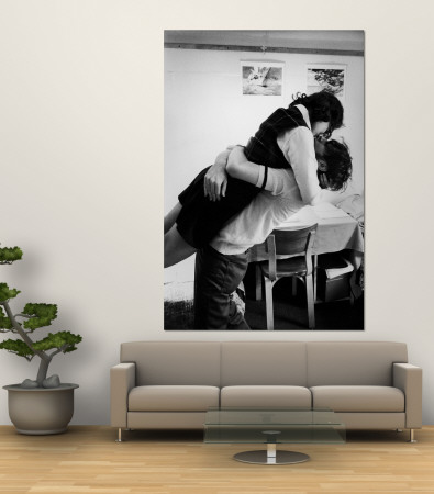 Oberlin College Students Kissing in a Co-Ed Dorm Premium Wall Mural by Bill Ray