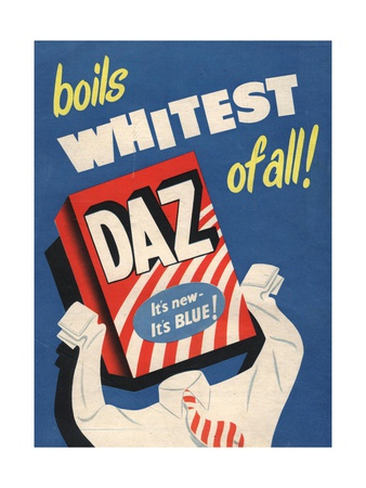 Washing Powder Products Detergent, UK, 1950 Premium Poster