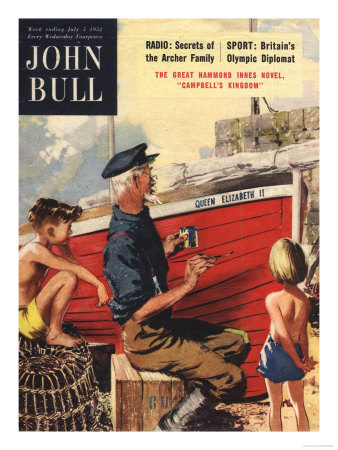 John Bull, Nautical Fishing Boats Magazine, UK, 1950 Premium Poster