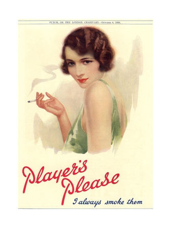 Player's Navy Cut, Cigarettes Smoking, UK, 1930 Premium Poster