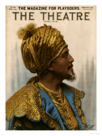 The Theatre, Aladdin Arabian Nights Magazine, USA, 1912 Premium Poster