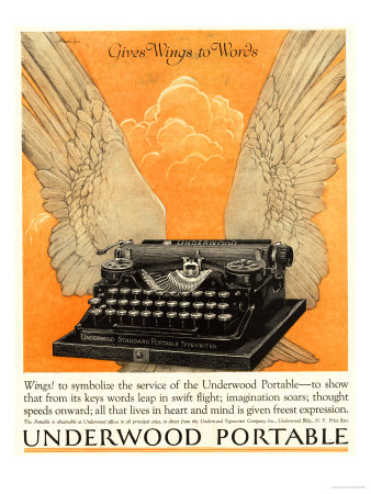 Underwood Portable Typewriters Equipment, USA, 1922 Premium Poster