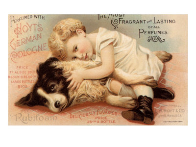 Hoytes Cologne, Dogs, Womens, USA, 1890 Premium Poster