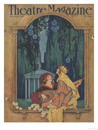 Theatre Magazine, Art Deco Magazine, USA, 1921 Giclée-tryk