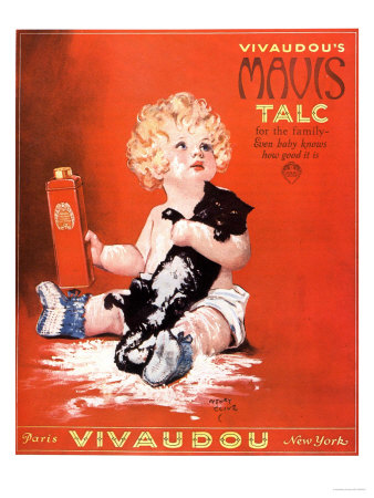 Mavis Talc Cats Talcum Powder, USA, 1920 Kunstdruck