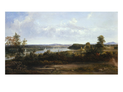 View on the Hudson River Near Tivoli, 1841 Giclee Print by Thomas Doughty