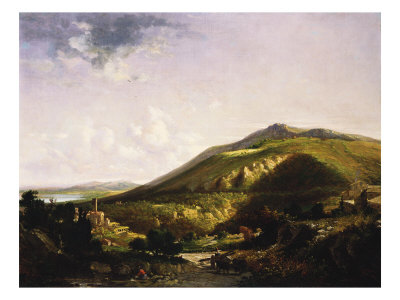 Spring Morning in the Roman Campagna, 1853 Gicleetryck